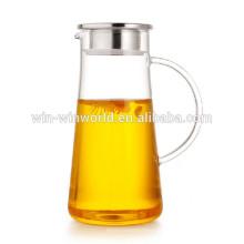 Jarro de vidro do suco do presente relativo à promoção novo do dia de mãe das ideias do negócio / garrafa