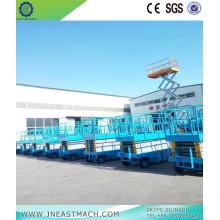 Plataforma elevadora de tijera hidráulica de 0.5t 10m CE