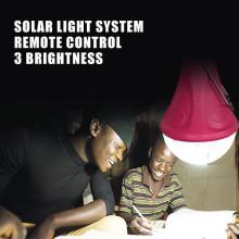Aprobación del CE recargable coche emergencia iluminación led para kits de iluminación solar portátil casa, acampar, interior