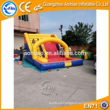 Deslizamiento inflable inflable de las diapositivas de agua, tobogán inflable del PVC para la piscina