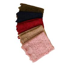 Nouveau Design châles de mode maxi dubaï coton dentelle hijab écharpe