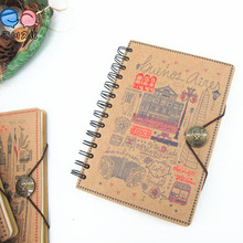 A5 Custom Printed Spiral Hardcover Notebook (XL-32K-TX-01)