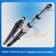 Cilindros hidráulicos telescópicos de design personalizado para caminhões de descarga