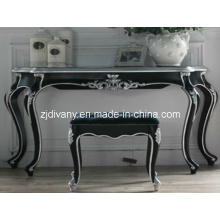 French Style Black Silvery Wood Dresser (2202)