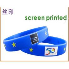Kundenspezifisches Laser Qr Code Silikon Wristband
