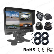 4CH Car Rear View System with Split Monitor