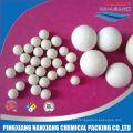 Низкая глинозема 17-23% инертные керамические шарики для нефтехимических реакторов нефтехимических средства поддержки катализатора