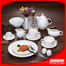 vaisselle en grès blanc Chaozhou vente porcelaine dîner définit