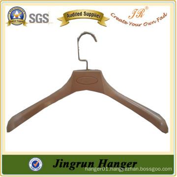 New Popular Wood Plastic Hanger Quality Promotional Suit Hanger