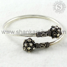 Glittering Style Bangle Supplier Fine Sterling Indian Silver Jewelry