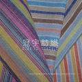 Strip Linen Cloth 100% Polyester Imitated Fabric for Sofa