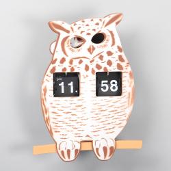 ABS Owl Flip Clocks for Decor