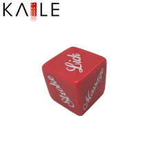 24mm New design Square Corner Red with logo Dice