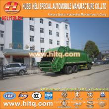 DONGFENG 6x4 16/20 m3 camion à ordures lourdes camion diesel diesel 210hp avec mécanisme de pressage