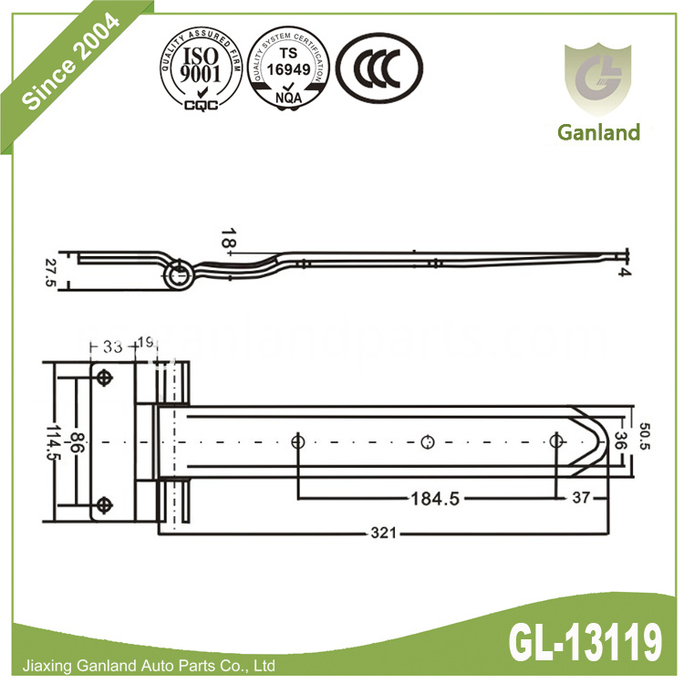 steel hinge specification 13119