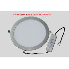 El panel del LED abajo enciende 20W 100 a 240v AC, 1100 a 1200lm Certificación del CE ROHS, 3 años de garantía