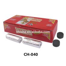 Tablette d'or de Shisha Charcoa charcoal de rivière narguilé