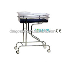 DW-CB06 cama de cuna de acero inoxidable de alta calidad del hospital hecha en China