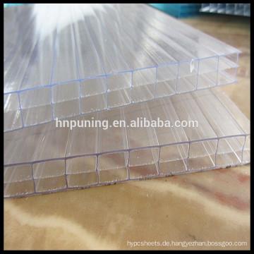 14MM Polycarbonat Sonnenblätter Transparente Dachplatte