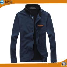 Los hombres calientes de la chaqueta de los hombres del otoño que hacen punto la capa del algodón cubren la chaqueta