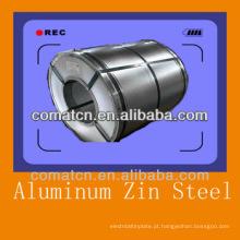 Aluzinc galvanizado bobina de aço AZ100g/m2, aço Galvalume, melhor qualidade de China