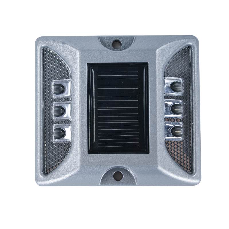 high visible reflective aluminum solar led road stud