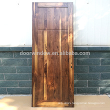 Modern new product design black walnut interior house door with 4 panels