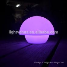 nouvelle lampe de table avec remote APP Mobile contrôle arc-en-ciel couleur changeante restaurant LED mini champignon lampes de bureau