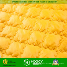 Tissu matelassé de couleur jaune pour veste matelassée