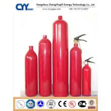 Hochdruck-nahtloser Stahl-Feuer-kämpfender Kohlendioxid-Gaszylinder mit ASME ISO