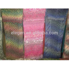 Acrílico Gradient Color Knitted Snood