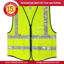 Hi vis fluorescent security reflective vest