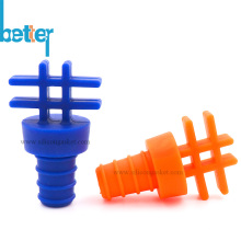 Colorful Unique Silicone Glass Wine Bottle Stopper