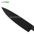 8 Inch Black Kitchen Houten koksmes