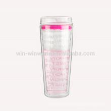 2017 New Arrival Most Popular Products Christmas Valentine's Day Gift Double-Wall Glass Tea Tumbler
