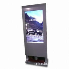 Shoe Polisher with LCD Advertising Player, Human Induced Black, Brown and Transparent