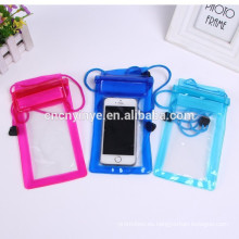 2015 caliente venta por mayor del OEM bolso del pvc impermeable para iphone