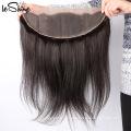 De Buena Calidad Frontal alineada de la cutícula con 4 paquetes de pelo peruano sin color natural del cobertizo