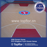 Indoor pvc sports flooring used for basketabll court flooring prices