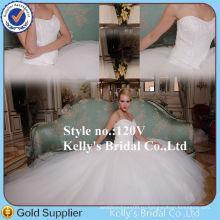 2015 новых прибыть два куска тяжелая бисероплетение лиф свадебное платье