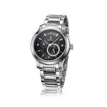 2016 Edelstahl mechanische Männer Saphir Business Armbanduhr