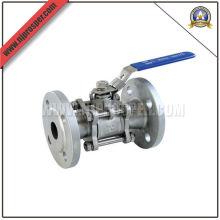 Válvula de esfera de aço inox 3PC Flange (YZF-V12)