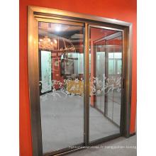 Porte coulissante en aluminium haute qualité Qualituy