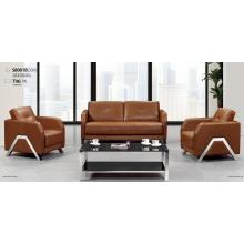 Concise leather office sofa