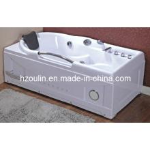 Bañera de hidromasaje blanca de acrílico con hidromasaje (OL-634)