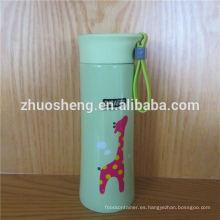 promoción del alto grado colorido doble pared acero inoxidable botella de vacío