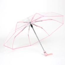 full automatic transparent see  pvc folding umbrella