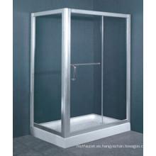 Australiano estándar AS / NZS2208 vidrio templado marco de aluminio paseo en la bandeja de la ducha del recinto (h005)
