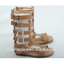 latest hot selling kids child girl brown gladiator sandals