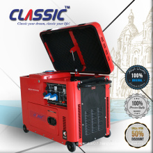CLASSIC(CHINA) 5.5KW 5.5KVA 5500Watts AC Single Phase Silent Type Electric Start Low Fuel Consumption Diesel Generator
